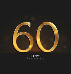 60 years happy anniversary card vector