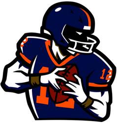 American football ruglogo vector