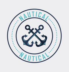 Anchor marine aquatic or nautical theme design vector