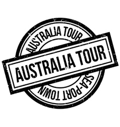 Australia Tour rubber stamp vector image