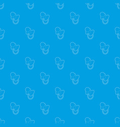 baby pacifier pattern seamless blue vector image