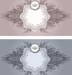 baroque cards vector image