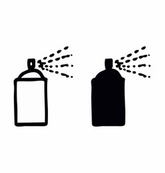 black and white spray cans vector image