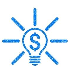 Business Idea Bulb Grainy Texture Icon vector