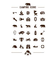 Camping icon web app ui logo vector