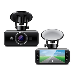 car DVR isolated vector image