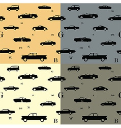 City cars seamless pattern vector image