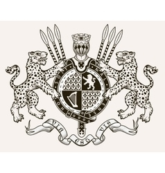 coat arms knight vector image
