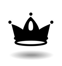 Crown icon in trendy flat style black isolated on vector
