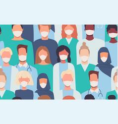 doctors nurses healthcare workers medical staff vector image