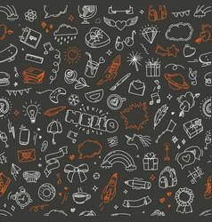 Doodling seamless pattern vector