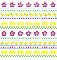 Easter seamless multicolor pattern vector image
