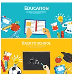 education banner and back to school template vector image