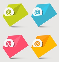 Envelope Email Icons Set vector