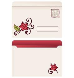 Flourish invitation card vector image