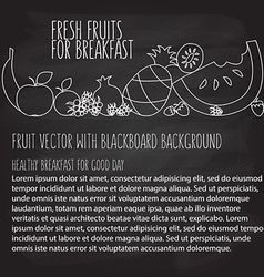 Fruit hand drawn template in flat linear vector