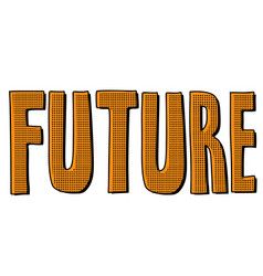 Future word text inscription vector