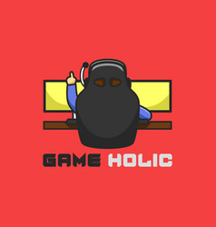 game fanatic good for zone company logo logo vector image