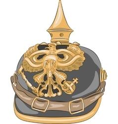 German Kaiser helmet vector