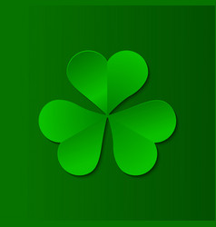 Green clover trefoil symbol happy patricks day vector