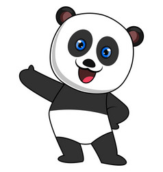 happy panda on white background vector image