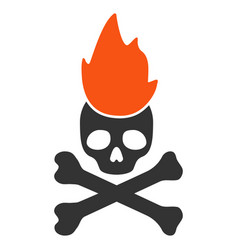 Hell fire flat icon vector