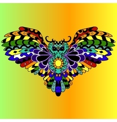 High quality colored owl for tattoo or ilustration vector image