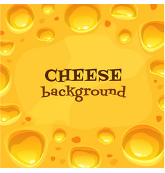 Holland cheese backround tasty food vector