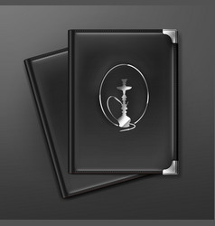 Hookah menu books vector