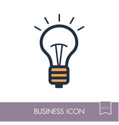 idea lightbulb outline icon business sign vector image