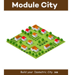 isometric nature rural vector image