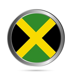 Jamaica flag button vector image