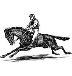 Jockey vector