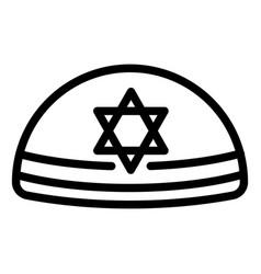 kippah icon outline style vector image