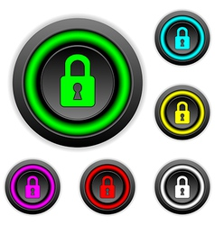 Lock buttons set vector image