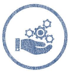 mechanics service fabric textured icon vector image