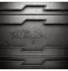 metal on wall background vector image