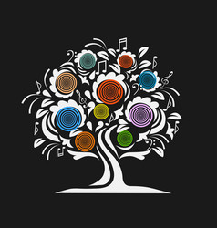 musical tree vector image