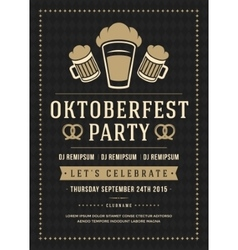 Oktoberfest beer festival poster or flyer template vector image