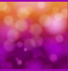 orange and purple bokeh abstract light background vector image