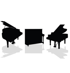 Piano three black vector