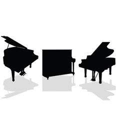 piano three black vector image