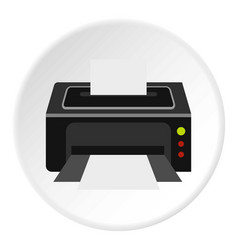 printer icon circle vector image