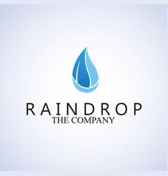 Raindrop logo vector