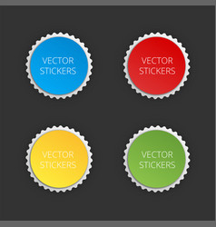 round banners set color stickers vector image