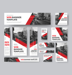 Set of web banners of different sizes with vector