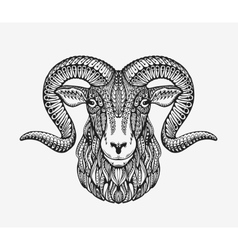 Sheep ram or mountain goat Animal decorated with vector