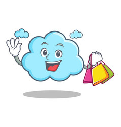 shopping cute cloud character cartoon vector image