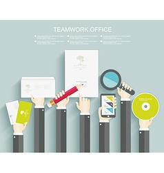 Signing a contract Business meeting vector image