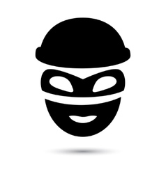 Simple web icon in Thief icon vector